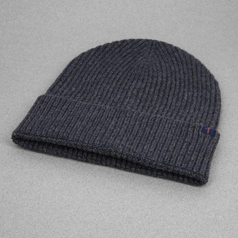 bonnet gris laine merinos cachemire