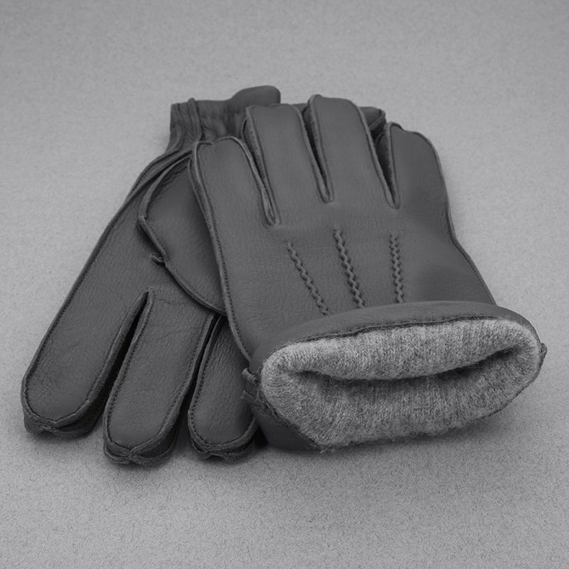 The Nines Paris gants cuir et cachemire